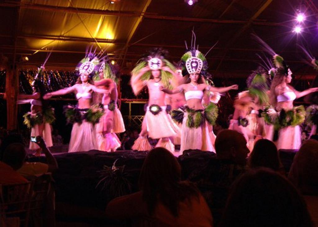 Traditional Hawaiian story telling dance. Oahu. Hawaii. : Stock Photo