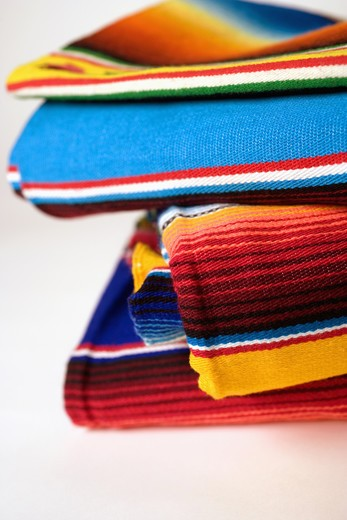 Close-up of multi-colored Mexican Ponchos : Stock Photo