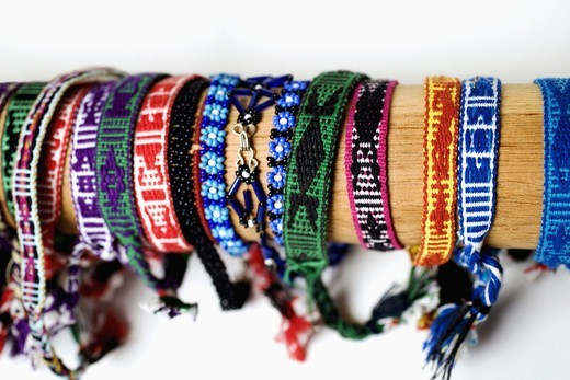 Stock Photo: 4286-59501 Close-up of wristbands