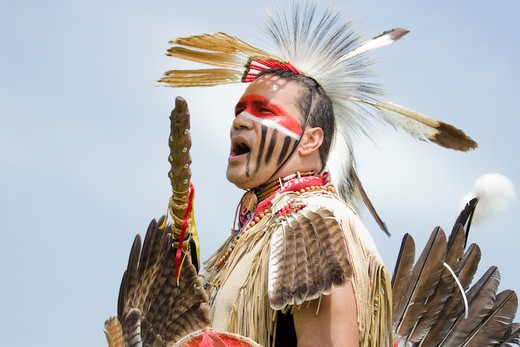 Stock Photo: 4286-60245 Native American in traditional regalia at the 8th Annual Red Wing PowWow in Virginia Beach, Virginia NOT MODEL RELEASED. EDITORIAL USE ONLY.