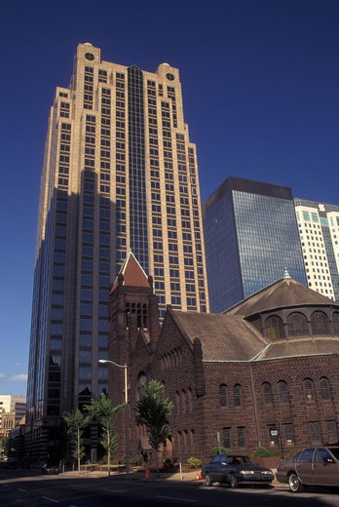 Birmingham, AL, Alabama, downtown skyline : Stock Photo