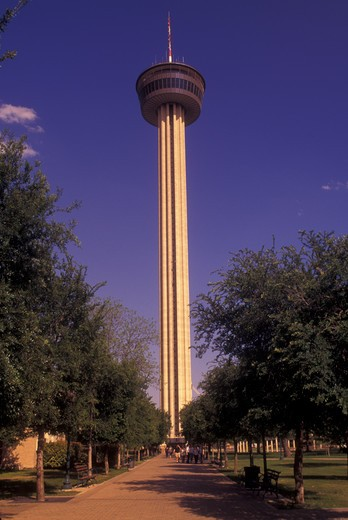 San Antonio, TX, Texas, Tower of the Americas, Hemisfair Park, site of the San Antonio World's Fair : Stock Photo