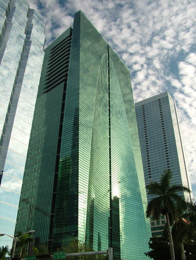 Stock Photo: 4286-60635 Miami, FL, Florida, downtown, Financial District, Brickell Avenue, high-rises, skyline