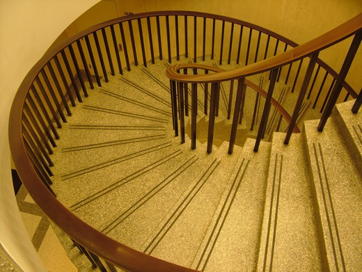 Stock Photo: 4286-60663 Tallahassee, FL, Florida, New State Capitol, State House, interior, spiral staircase