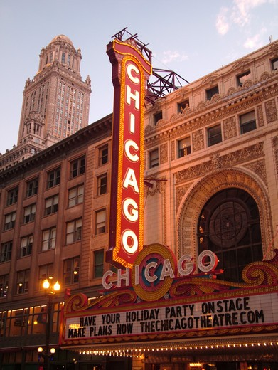 Stock Photo: 4286-60726 Chicago, IL, Illinois, Windy City, Downtown, Chicago Theatre