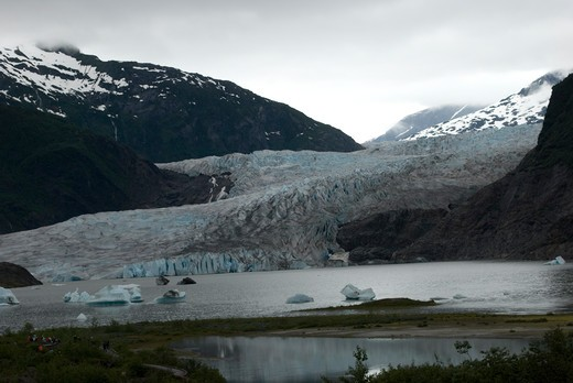 Stock Photo: 4286-61033 Mendenhall Glacier, Juneau, Alaska