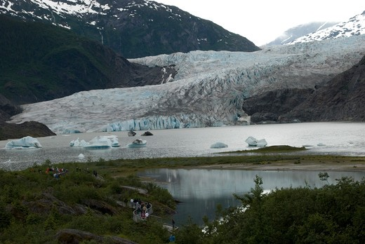 Mendenhall Glacier, Juneau, Alaska : Stock Photo