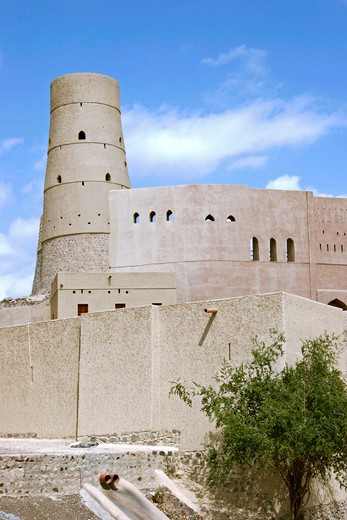 Stock Photo: 4286-62216 Castle away of Bahla dating from 12th and 13th centuries UNESCO World Heritage site Nizwa region sultanates of Oman Middle East
