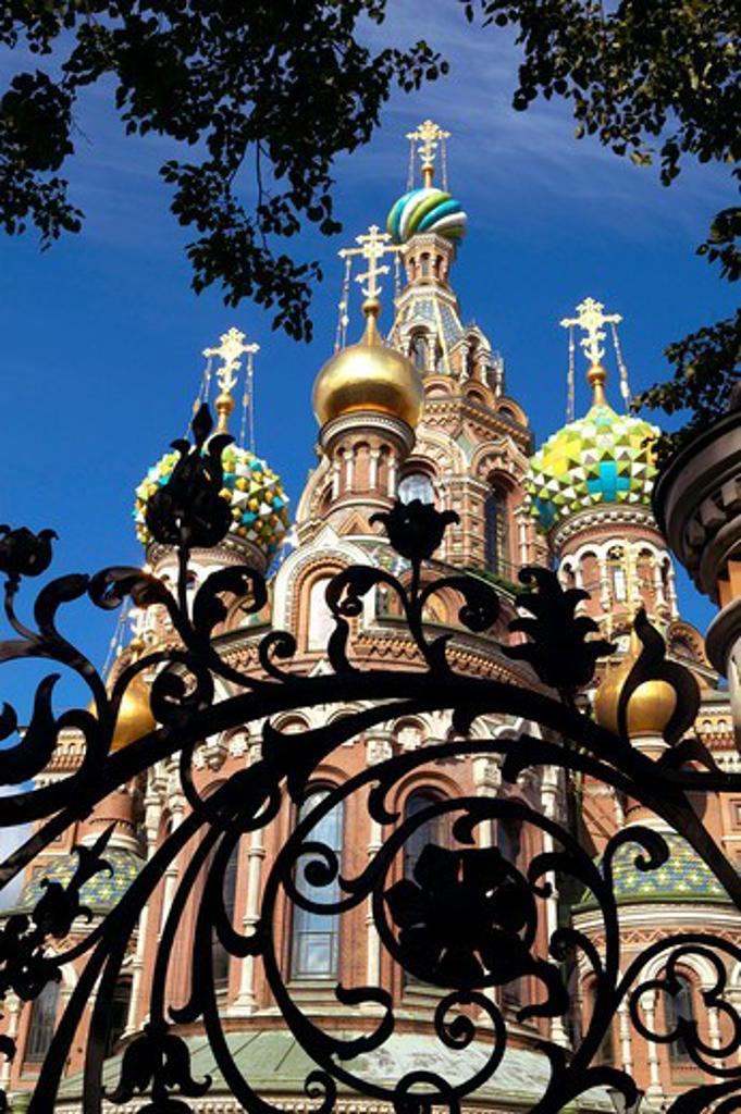 Stock Photo: 4286-63230 Sankt Petersburg,  Russia Saint Petersburg resurrection church