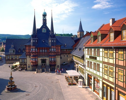 Stock Photo: 4286-63838 Germany,  Rathaus in Wernigerode