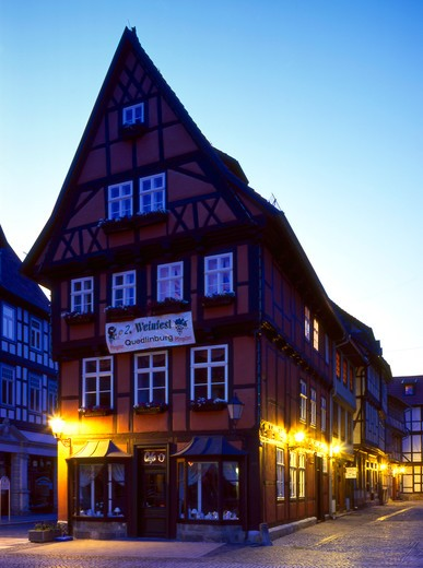 Stock Photo: 4286-63855 Germany,  Quedlinburg bei Nacht