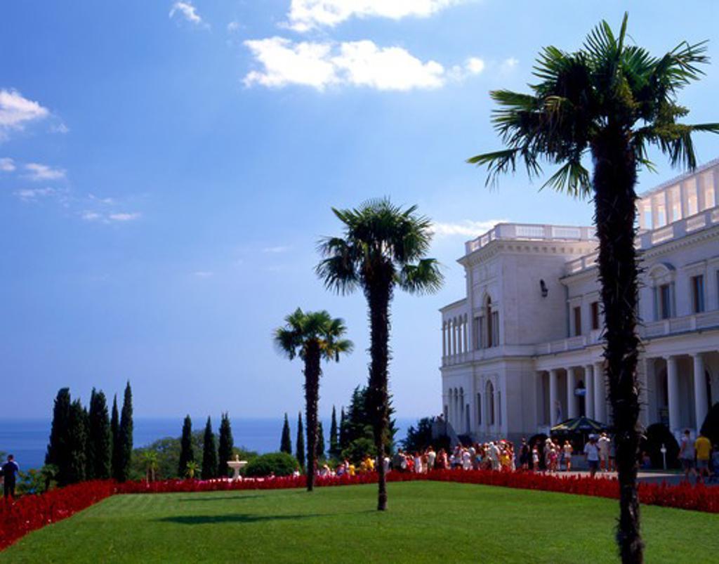 Stock Photo: 4286-63931 Ukraine,  Krim,  Liwadijskij Schloss in Jalta