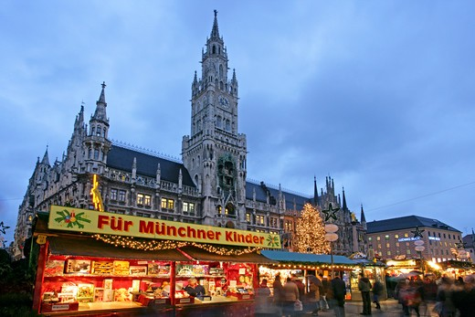 Stock Photo: 4286-64617 christmas market in Munich Germany