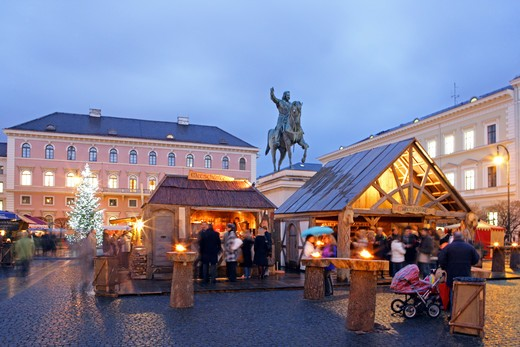 christmas market in Munich Germany : Stock Photo
