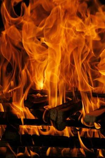 Stock Photo: 4286-64683 close up of fire and flames