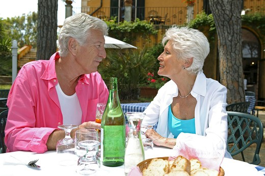 elder couple in holidays : Stock Photo