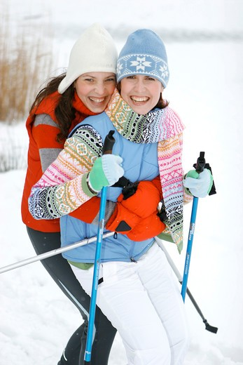 Stock Photo: 4286-66087 Nordic walking in winter