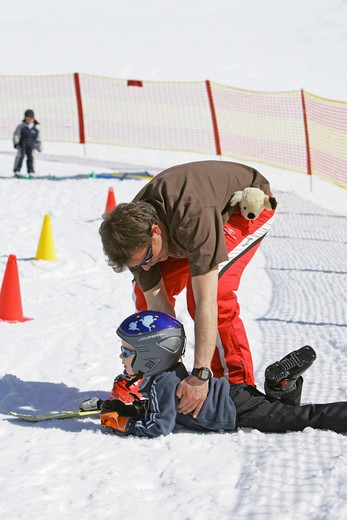 Stock Photo: 4286-66287 Children ski school