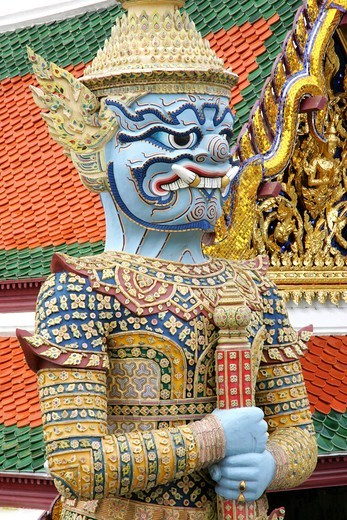 Stock Photo: 4286-66357 Thailand, Bangkok, Wat Phra Kaeo, Grand Palace,