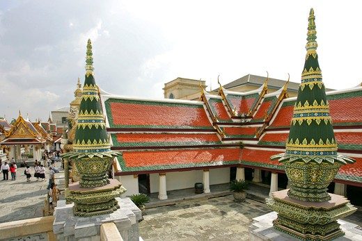 Stock Photo: 4286-66386 Bangkok Wat Phra Kaeo Grand Palace