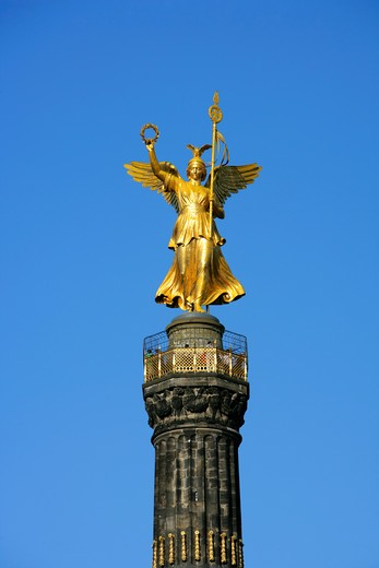 Stock Photo: 4286-67304 Germany, Berlin, part of town Berlin zoo, big star, victory column