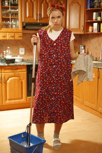 Housework (model release) : Stock Photo
