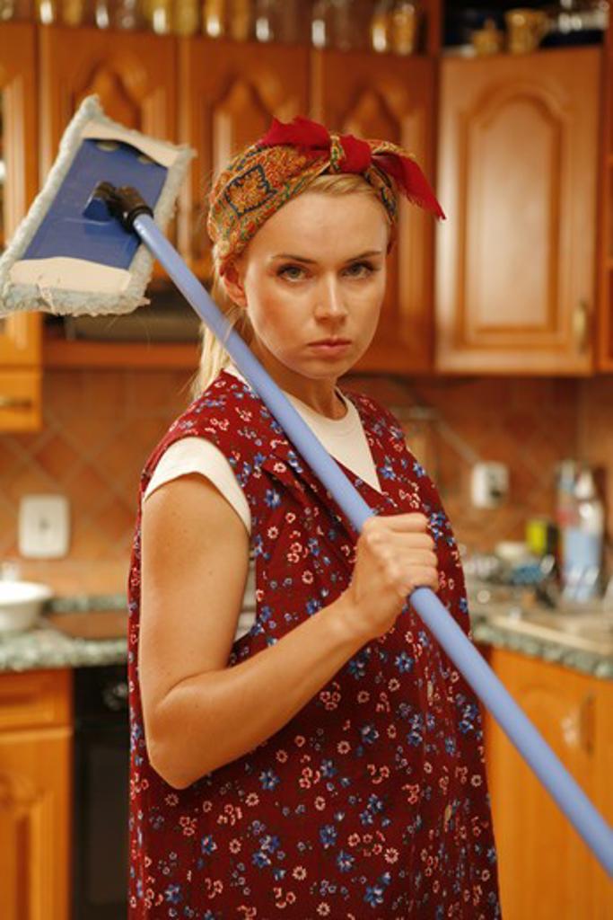 Housework (model release) : Stock Photo