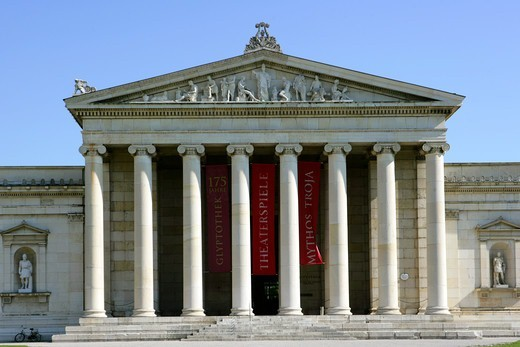 Stock Photo: 4286-68326 Glyptothek, Koenigsplatz (King's Square), Munich, Bavaria, Germany