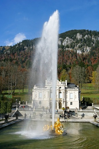 Stock Photo: 4286-68458 Linderhof Castle Bavaria Germany
