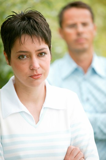 Stock Photo: 4286-68854 Woman and man blurred motion