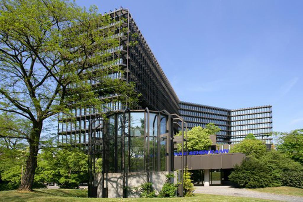 Germany Bavaria Munich buildings European Patent Office exterior : Stock Photo