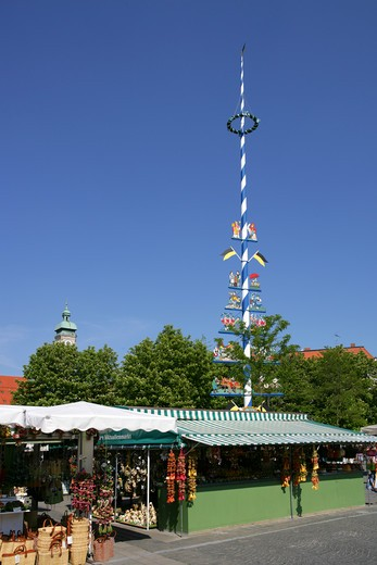 Stock Photo: 4286-69043 Germany Bavaria Munich market square Viktualienmarkt