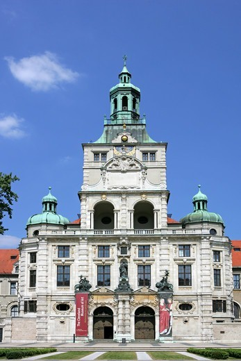 Bavarian national museum Munich Bavaria Germany : Stock Photo