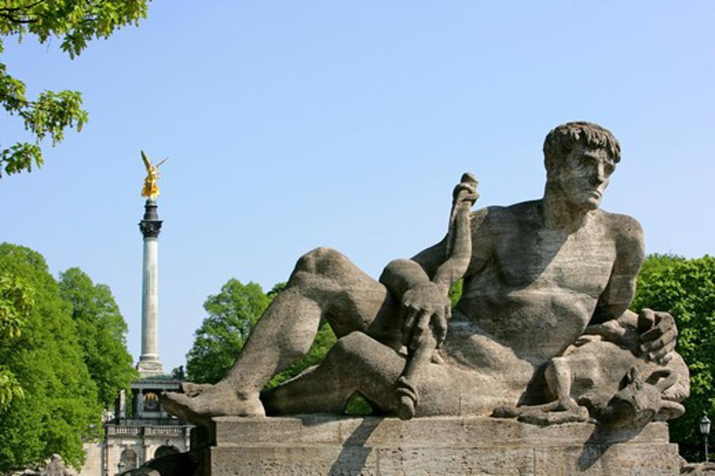 Stock Photo: 4286-69120 Friedensengel (Angel Column), Munich, Bavaria, Germany
