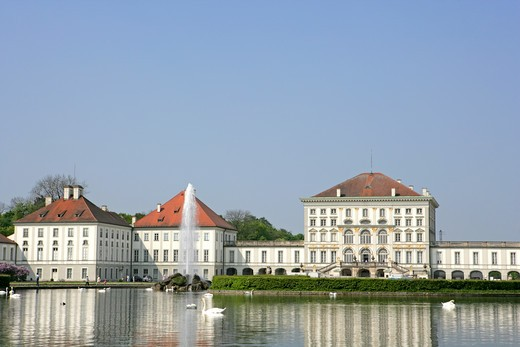 Stock Photo: 4286-69140 Nymphenburg Castle Munich, Upper Bavaria, Germany