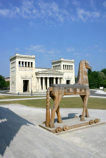 Stock Photo: 4286-69142 Mythos Troja at Glyptothek museum Konigsplatz Munich Germany