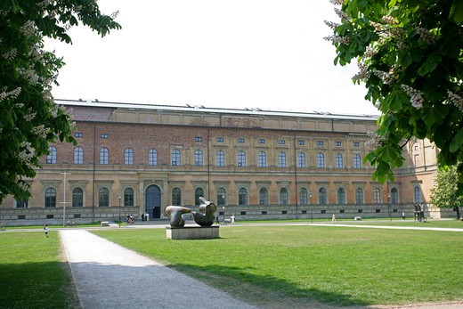 Germany Bavaria Munich the Old Pinakothek : Stock Photo