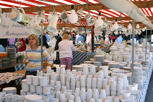 Stock Photo: 4286-69211 Flea Market Auer Dult, Munich, Bavaria, Germany
