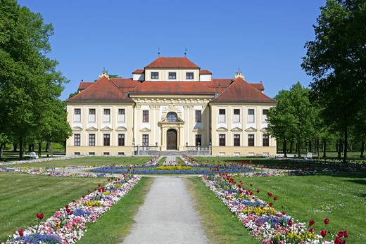 Stock Photo: 4286-69226 Castle Lustheim at Schleissheim park and palace grounds Munich Bavaria Germany