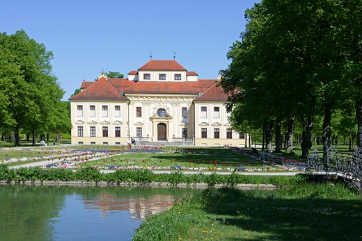Castle Lustheim at Schleissheim park and palace grounds Munich Bavaria Germany : Stock Photo
