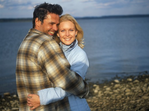 Stock Photo: 4286-69679 Pair in love outside