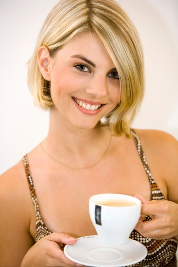 blonde woman portrait : Stock Photo