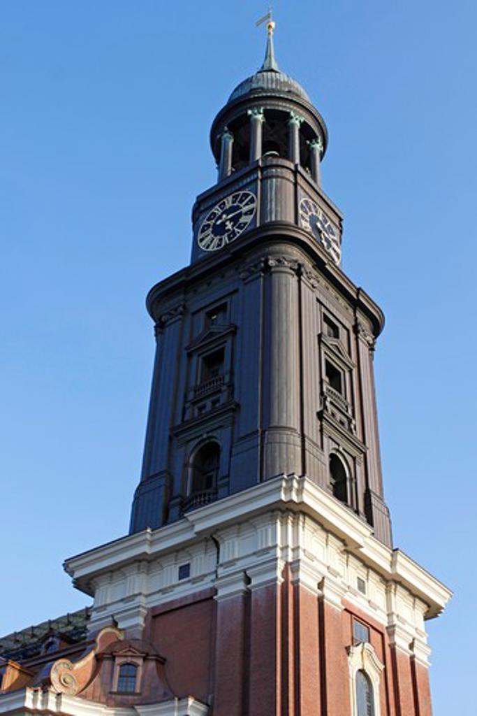 Church Saint Michaelis, Michel, Hamburg, Germany, Europe : Stock Photo