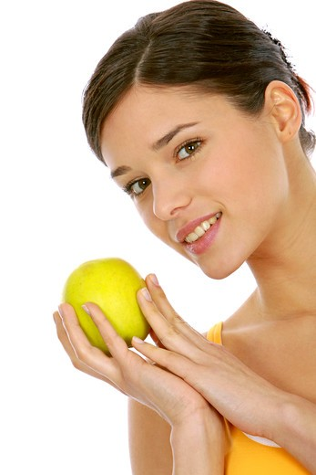 Woman with fruit : Stock Photo