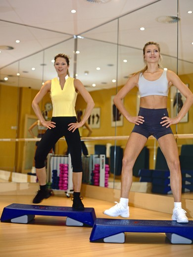 Young women are in training, workout : Stock Photo