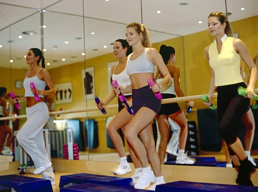 Stock Photo: 4286-72125 Young women are in training, workout