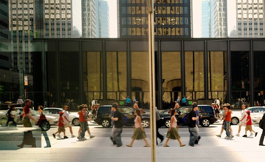 Stock Photo: 4286-74239 Canada,Ontario,Toronto,pedestrians in the financial district of the city