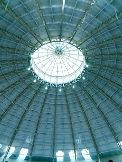 United Kingdom Buxton University of Derby,Devonshire Dome the largest unsupported dome in Britain at 150 feet in diameter : Stock Photo