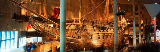 Stock Photo: 4286-75120 The royal ship Vasa from 1628 at Vasa Museum in Stockholm