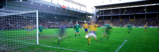 Stock Photo: 4286-75719 Football match at Rosunda Stadium in Stockholm, Sweden
